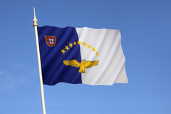 Flag of the Azores. The regional flag of the Portuguese Autonomous Region of the Azores. Adopted in 1979 by the regional government of the Azores. It features Royalty Free Stock Photos