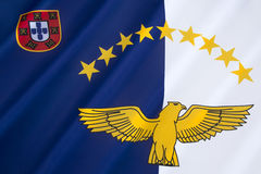 Flag of the Azores Stock Photo