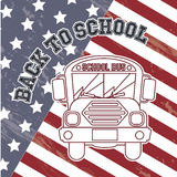 Flag back to school Stock Photos