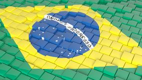 Flag background. 3D abstract Brazilian flag background Royalty Free Stock Photography