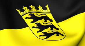 Flag of Baden-Wurttemberg, Germany. Stock Photos