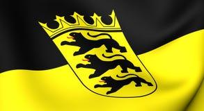 Flag of Baden-Wurttemberg, Germany. Stock Photos