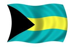 Flag of the Bahamas. Waving flag of the Bahamas Royalty Free Illustration