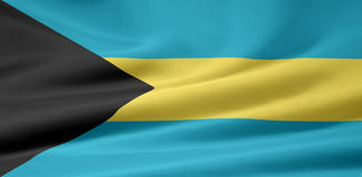 Flag of Bahamas Stock Image