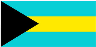 Flag of Bahamas Stock Photography