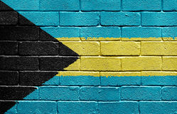 Flag of Bahamas on brick wall Stock Photography