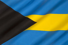Flag of the Bahamas - Caribbean Stock Photo