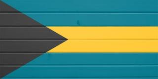 Bahamas Flag royalty free illustration