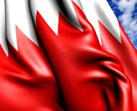 Flag of Bahrain Royalty Free Stock Image