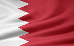 Flag of Bahrain Stock Photography