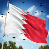 Flag of Bahrain. This is a computer generated and 3d rendered image Royalty Free Stock Photos