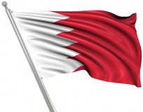 Flag of Bahrain. This is a computer generated and 3d rendered picture royalty free illustration