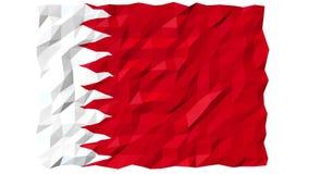 Flag of Bahrain 3D Wallpaper Animation stock video