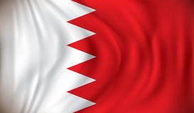 Flag of Bahrain. Vector illustration Stock Photo