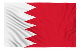 Flag of Bahrain. Isolated on white Stock Photography