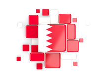 Flag of bahrain, mosaic background. With square parts. 3D illustration vector illustration