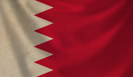 Flag of Bahrain. Vintage background with flag of Bahrain. Grunge style Royalty Free Stock Photos
