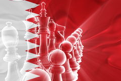 Flag of Bahrain wavy business strategy Royalty Free Stock Photo