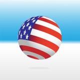Flag and ball Royalty Free Stock Image