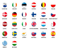Flag ball of  national members of European Parliament EP Royalty Free Stock Image