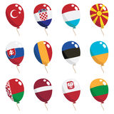 Flag balloons Stock Photography