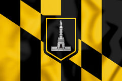 Flag of Baltimore Maryland, USA. Royalty Free Stock Photos