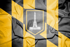 Flag of Baltimore, Maryland. USA. Stock Images