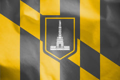 Flag of Baltimore, Maryland. USA. Stock Photos