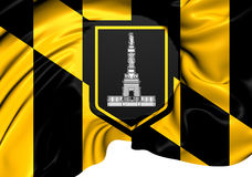 Flag of Baltimore Stock Photo