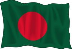 Flag of Bangladesh. Waving flag of Bangladesh isolated on white vector illustration