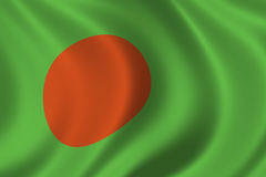 Flag of Bangladesh. Waving in the wind Royalty Free Stock Photos