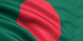 Flag Of Bangladesh. 3d rendered and waving flag of bangladesh vector illustration