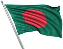 Flag of Bangladesh. This is a computer generated and 3d rendered picture stock illustration