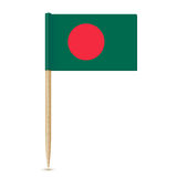Flag of Bangladesh. Flag toothpick 10eps Royalty Free Stock Photography
