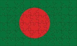 Flag of  Bangladesh puzzle Royalty Free Stock Photos