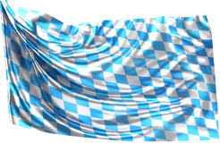 Flag Banner of Bavaria 3d Royalty Free Stock Photography