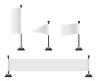 Flag banner set Royalty Free Stock Image