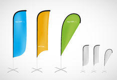Flag banner stand. Promotional vector flag banner stand royalty free illustration