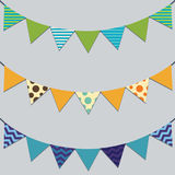 Flag Bunting Banner Set Stock Photos