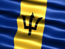 Flag of Barbados Stock Photography