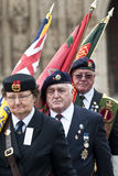 Flag barers from the Royal British Legion Stock Photos