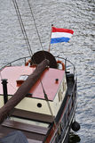 Flag at a Barge Royalty Free Stock Image