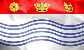 Flag of Barrie, Canada. 3d Rendered Flag of Barrie, Canada Stock Photos