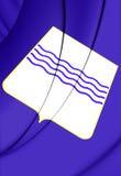Flag of Basilicata Region, Italy. Stock Images