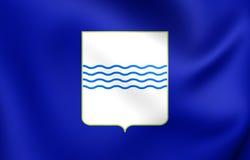 Flag of Basilicata Region, Italy. Royalty Free Stock Photos
