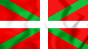 Flag of the Basque Country. 3D Illustration. Royalty Free Stock Image