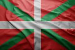 Flag of Basque Country. Waving colorful national Basque Country flag Royalty Free Stock Photos