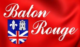 Flag of Baton Rouge Louisiana, USA. Stock Photo