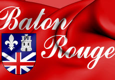 Flag of Baton Rouge, USA. Stock Photography