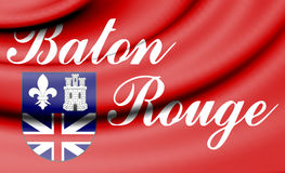 Flag of Baton Rouge, USA. Stock Photos